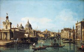 At the beginning of the Canale grandee in Venice