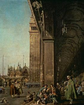 Piazza di San Marco: looking East from the South West Corner and the Colonnade of the Procuratie Nuo
