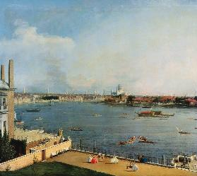 The Thames and the centre of London from Richmond House