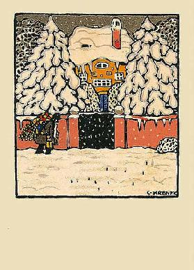 Christmas card of the Wiener Werkstätten, No.629