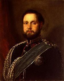 Portrait of the grand duke Nikolaus Friedrich Peter of Oldenburg