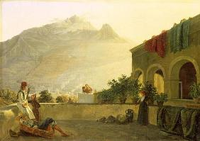 The Sentry on Ischia, 1829 (oil on canvas)