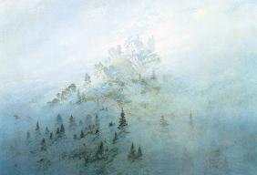Early morning mist in the mountains, Morgennebel im Gebirge, Friedrich, Caspar David