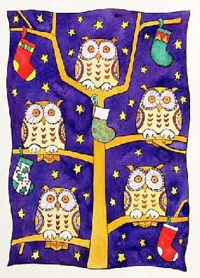 Five Wise Owls