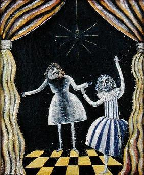 Curtain Call, 1990 (oil on board)