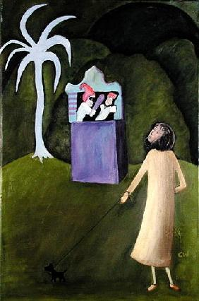 Punch and Judy, 1983 (oil on canvas)