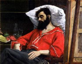 The Convalescent, or The Wounded Man, detail cut by the artist from 'The Visit to the Convalescent'