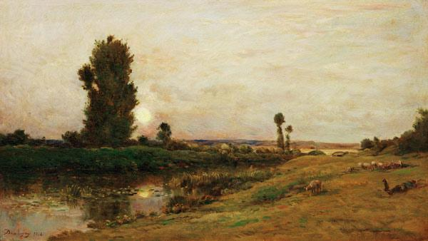 Ch.-F.Daubigny, Moonrise over the Oise