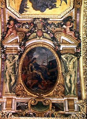 Re-establishment of Navigation Rights in 1663, Ceiling Painting from the Galerie des Glaces