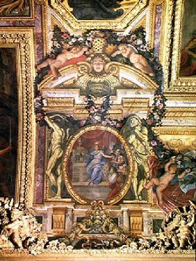 The Foundation of the Hotel Royal des Invalides in 1674, Ceiling Painting from the Galerie des Glace