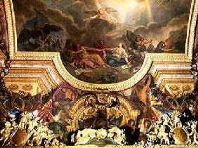 The Strategy of the Spanish Ruined by the Taking of Ghent, ceiling painting from the Galerie des Gla