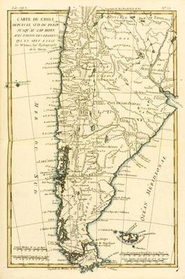 Chile, from the south of Peru to Cape Horn, from 'Atlas de Toutes les Parties Connues du Globe Terre