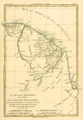 French Guyana, with part of Dutch Guyana, from 'Atlas de Toutes les Parties Connues du Globe Terrest