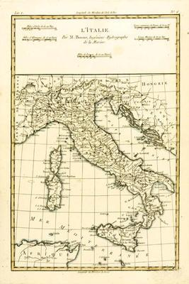 Italy, from 'Atlas de Toutes les Parties Connues du Globe Terrestre' by Guillaume Raynal (1713-96) p