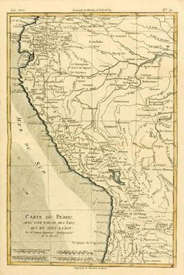 Peru, from 'Atlas de Toutes les Parties Connues du Globe Terrestre' by Guillaume Raynal (1713-96) pu