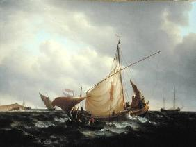 Dutch Boat Putting to Sea