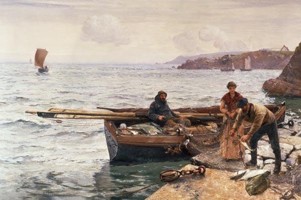 Crabber 39 s bait charles napier hemy for Stampe di baite
