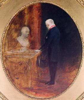 The Duke of Wellington (1769-1852) Studying a Bust of Napoleon (1769-1821)