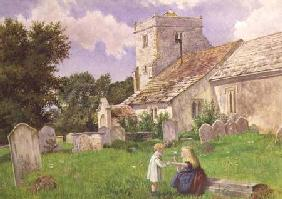 Children in a Church Yard