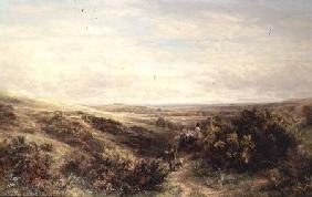 Moorland Landscape with Figures