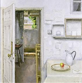 Open Doors with Still Life and Letter, 2004 (oil on canvas)