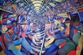Subway NYC, 1994 (oil on canvas)