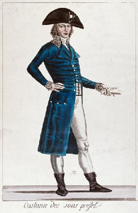 Costume of an Under-Prefect during the period of the Consulate (1799-1804) of the First Republic in