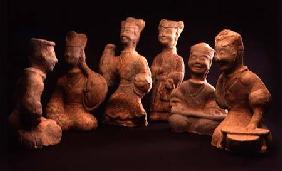 Group of Musicians, Dancers and Servants, Han Dynasty (206 BC-220 AD)