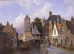 Canal Scene in Holland