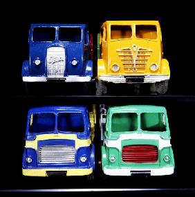A Group Of Foden And Leyland Model Trucks