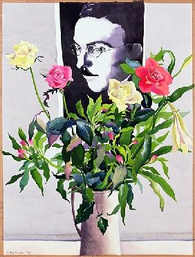 Fernando Pessoa (1888-1935), Roses and Lilies (w/c on paper)