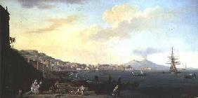 View of Naples with Vesuvius in the Background (pair of 71567)