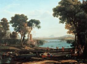 Landscape with the wedding of Isaak and Rebekka