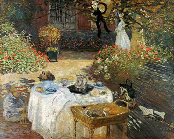 Il pranzo nel giardino di monet a argenteuil quadro di - Il giardino di monet ...