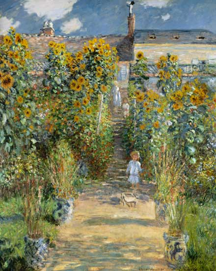 The Artist 39 S Garden At Vetheuil Claude Monet