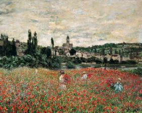 Claude Monet / Poppy field near Vetheuil
