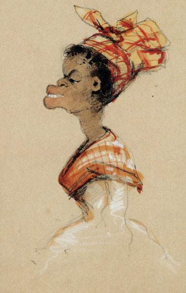 Coloured woman with Madras (caricature) 1857