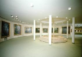 Interior with paintings