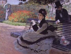 Madame Monet on a Garden Bench