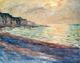 The Beach at Pourville, Setting Sun 1882