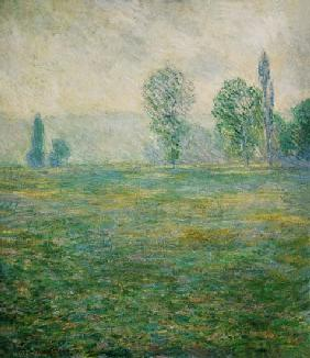 Meadow countryside at Giverny in the morning light. 1888