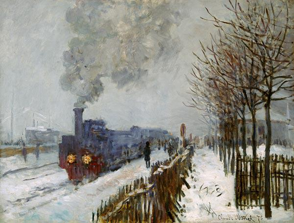 Train in the Snow, the Engine 1875