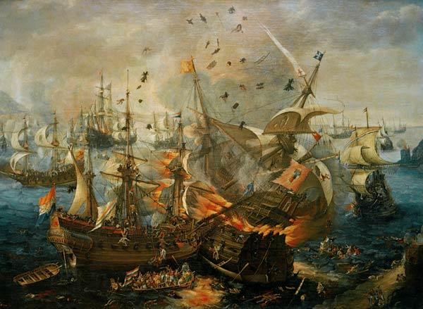 The Explosion of the Spanish Ship 1607