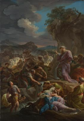Moses striking the Rock