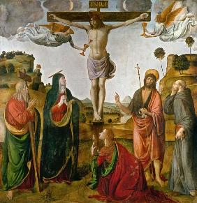 Crucifixion Christi with Maria and the hll.Johannes Maria Magdalena, Andreas and Franziskus