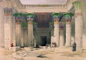 Grand Portico of the Temple of Philae, Nubia, from ''Egypt and Nubia''; engraved by Louis Haghe (180