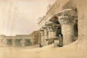 Temple of Horus, Edfu, from ''Egypt and Nubia''; engraved by Louis Haghe (1806-85) published in Lond