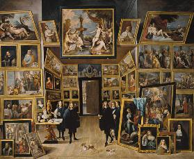 The archduke Leopold Wilhelm in his picture gallery to Brussels