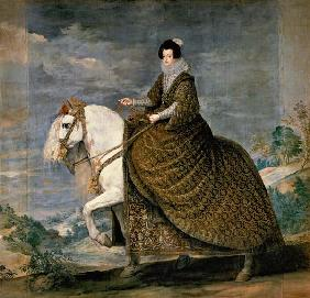 Isabella of Bourbon (wife Philipps IV) . to horse