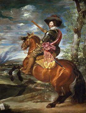 Gaspar de Guzmán, duke of olive-green are to horse